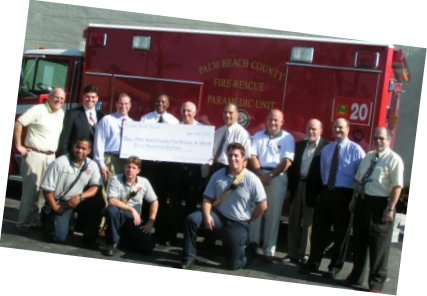 Donation to Palm Beach Fire Rescue