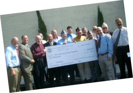 Donation picture to Jewish War Veterans